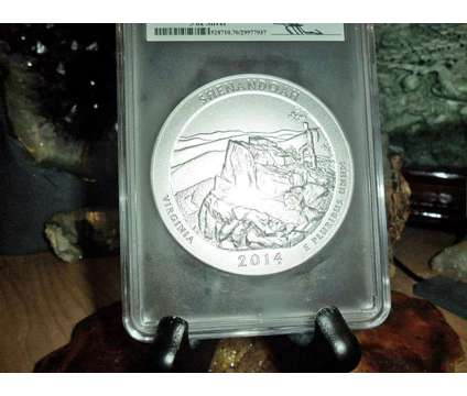 2014-P F/S PCGS SP 70 SHENANDOAH NATIONAL PARK 5 oz. SILVER QUARTER with JOHN M is a Purple Collectibles for Sale in New York NY