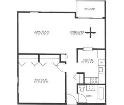 1 Bed - Courts of the Falling Waters at 7330 Fairmount Ave in Downers Grove IL is a Apartment