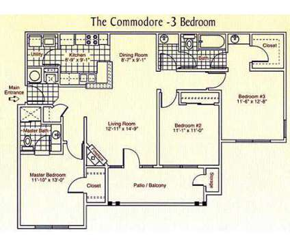3 Beds - Waterford Landing Apartments at 1200 Landing Ln in Moon Township PA is a Apartment