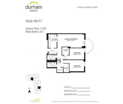 2 Beds - Durham Edina at 7201 York Avenue S in Edina MN is a Apartment