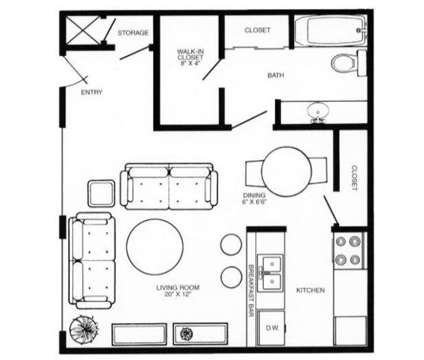 Studio - Eden West at 9405 Western Plaza in Omaha NE is a Apartment