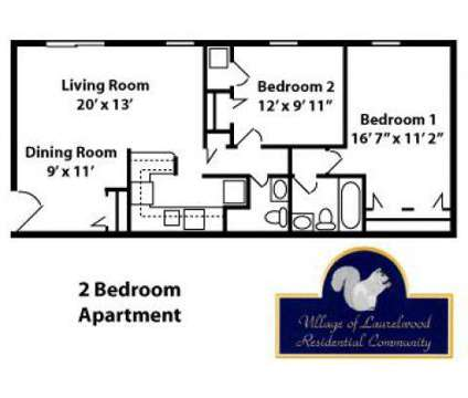 2 Beds - Laurelwood Apartments & Townhomes at 401 Collingwood Ct in Cranberry Township PA is a Apartment