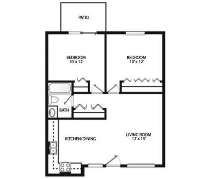 2 Beds - Varsity Square Apartments at 1097 Varsity East in Bowling Green OH is a Apartment