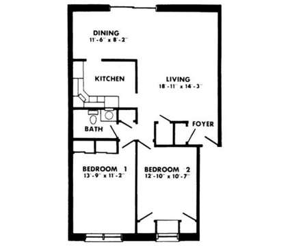 2 Beds - Oakleigh Apts at 1803 Cobourg Court in Parkville MD is a Apartment