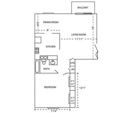 1 Bed - Broad Ripple Trails at 5220 Luzzane Ln in Indianapolis IN is a Apartment