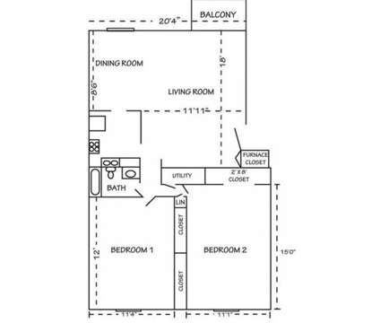 2 Beds - Broad Ripple Trails at 5220 Luzzane Ln in Indianapolis IN is a Apartment