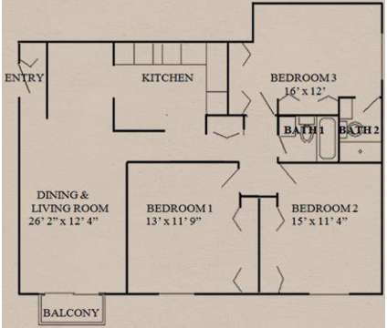 3 Beds - Colonial Village at 1640 Norwood Ave in Itasca IL is a Apartment