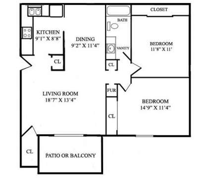2 Beds - Village Square Apartments at 100 Tonto Trail in Lafayette IN is a Apartment