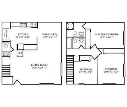 3 Beds - Village Square Apartments at 100 Tonto Trail in Lafayette IN is a Apartment