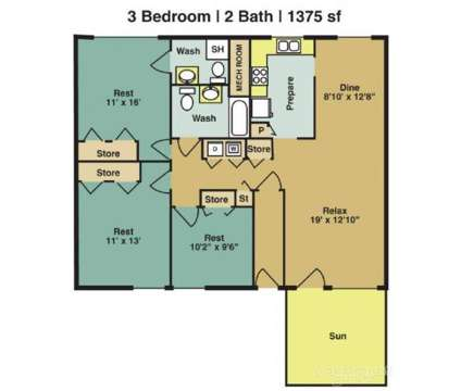 3 Beds - Woodland Creek Apartments at 5216 Penrith Dr in Durham NC is a Apartment