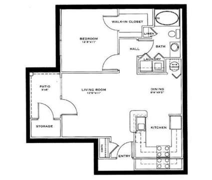 1 Bed - Foxfire at Valley Lakes at 2121 Kyra Drive in Lafayette IN is a Apartment
