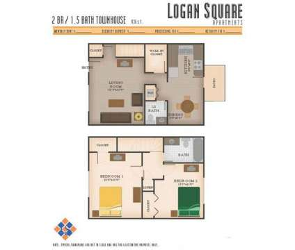 2 Beds - Logan Square Apartments at 733 West Glenn Avenue in Auburn AL is a Apartment