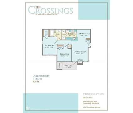 2 Beds - The Crossings at Washingtonian Center at 9806 Mahogany Dr in Gaithersburg MD is a Apartment