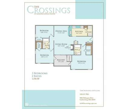 3 Beds - The Crossings at Washingtonian Center at 9806 Mahogany Dr in Gaithersburg MD is a Apartment