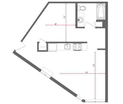 Studio - The Hub at Widener at 1470 Providence Ave in Chester PA is a Apartment