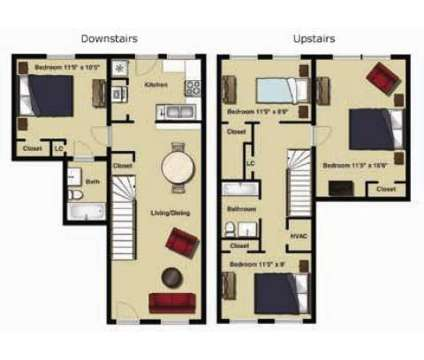 4 Beds - Old Mill Townhomes at 725 Mill Stream Ln in Lynchburg VA is a Apartment