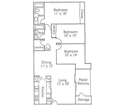 3 Beds - Legacy of Dalton at 2111 Club Drive in Dalton GA is a Apartment