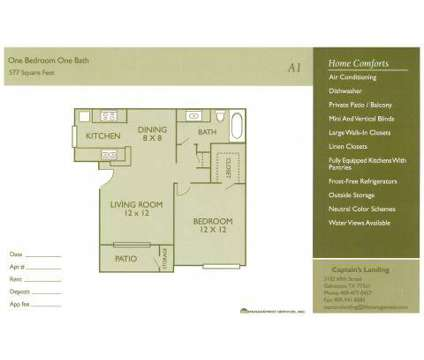 1 Bed - Captain's Landing at 3102 69th St in Galveston TX is a Apartment