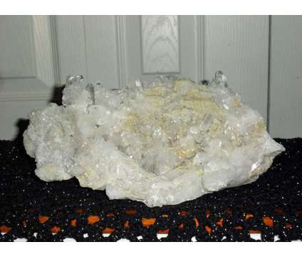 Arkansas Quartz Crystal Cluster Burr Clear Points is a Black, Blue, Brown, Green, White, Yellow Collectibles for Sale in New York NY