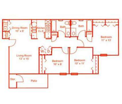 3 Beds - Pleasant Springs Apartments at 1015 Vesper Place in Indianapolis IN is a Apartment