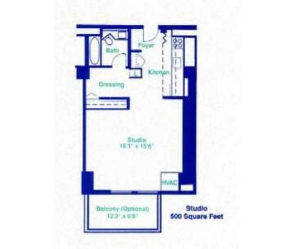 Studio - Gentry's Landing, The at 400 N 4th St in Saint Louis MO is a Apartment