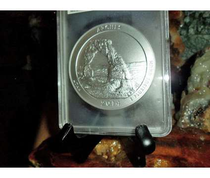 2014-P F/S PCGS SP 70 ARCHES NATIONAL PARK 5 oz. SILVER QUARTER with JOHN M. MER is a Antiques for Sale in New York NY