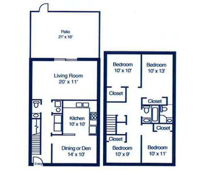 4 Beds - Berkley Commons at 8201 Madison Avenue in Indianapolis IN is a Apartment