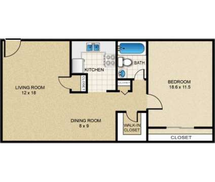 1 Bed - Meadowbrook Gardens at 3579 Route 46 in Parsippany NJ is a Apartment