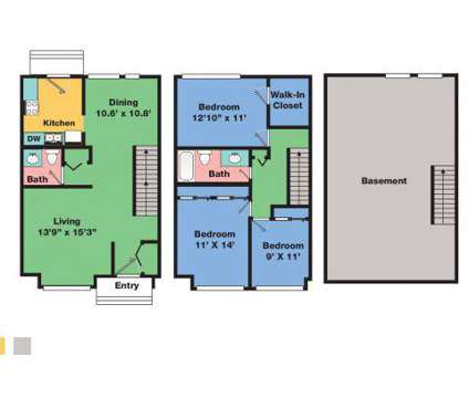 3 Beds - Autumn Ridge Apartments & Townhomes at 119 Sycamore Drive in Park Forest IL is a Apartment