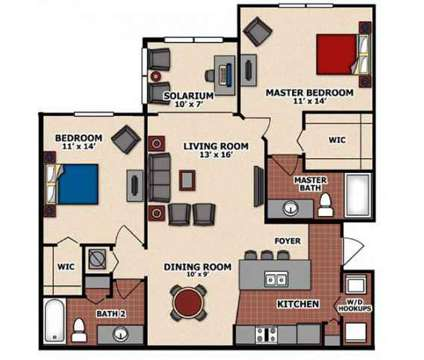 2 Beds - Capital Walk Apartments at 850 Capital Walk Dr in Tallahassee FL is a Apartment