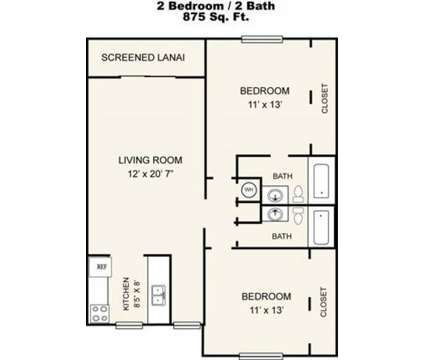 2 Beds - Park Place Apartments at 4637 Deleon St in Fort Myers FL is a Apartment