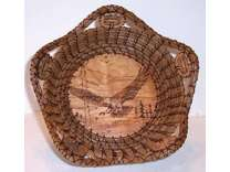 Wood Burnt Baskets