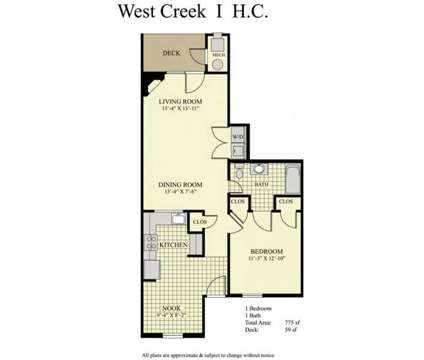 1 Bed - West Creek Village at 1600 W Creek Village Drive in Elkton MD is a Apartment