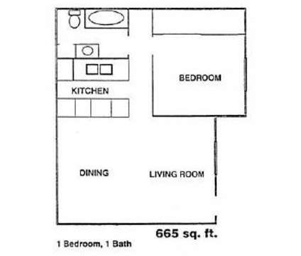 1 Bed - Estates @ Spring Branch at 9001 Kempwood in Houston TX is a Apartment