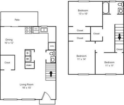 3 Beds - Oxford Townhomes at 6042 N Lee St in Morrow GA is a Apartment