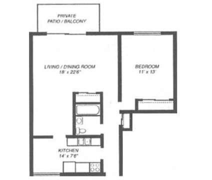 1 Bed - Glen Ellyn Apartment Homes at 1250 Old Bond Ct in Glen Ellyn IL is a Apartment