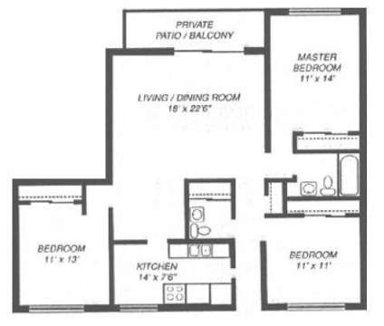 3 Beds - Glen Ellyn Apartment Homes at 1250 Old Bond Ct in Glen Ellyn IL is a Apartment