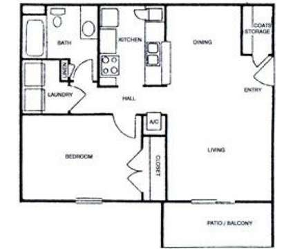 1 Bed - Cypress Run Apartments at 6101 Tullis Drive in New Orleans LA is a Apartment