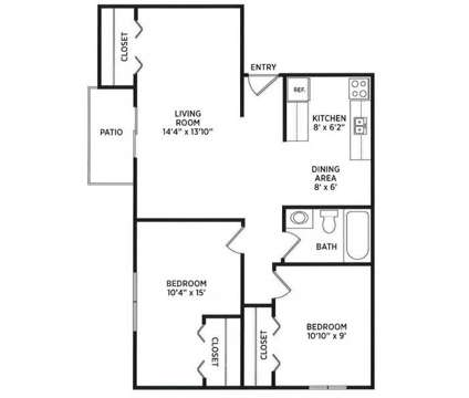 2 Beds - Arbor Glen at 295 Arbor Glen Dr in East Lansing MI is a Apartment