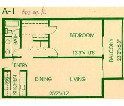 1 Bed - La Vida Buena at 2201 Ambassador Road Ne in Albuquerque NM is a Apartment