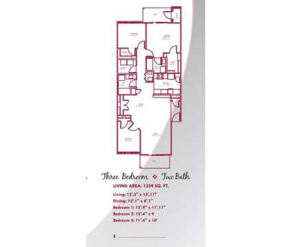3 Beds - Steeples on Washington Apartments at 2910 Steeples Dr in Indianapolis IN is a Apartment