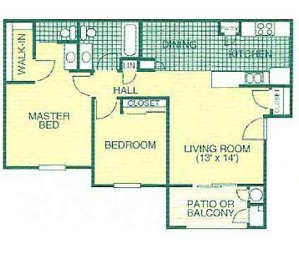 2 Beds - Pine Tree Village Apartments at 6840 N Maple Ave in Fresno CA is a Apartment