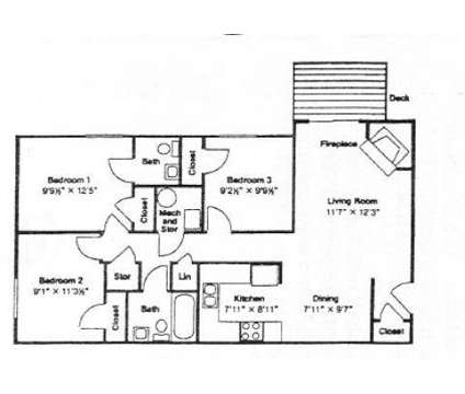 3 Beds - Lantern Ridge Apartments at 401 Fairfax Rd in Blacksburg VA is a Apartment