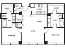 2 Beds - 925 Common Luxury Apartments