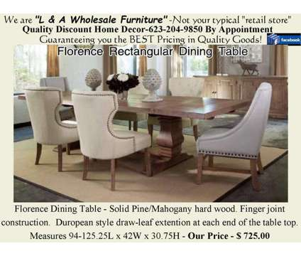 "54"" Round Pedestal Table & chairs is a Tables & Stands for Sale in Glendale AZ"