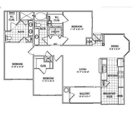 3 Beds - The Lakes at Turtle Creek Apartment Homes at 155 Cross Creek Parkway in Hattiesburg MS is a Apartment