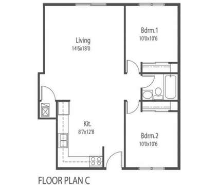 2 Beds - Drake Park Apartments at 1260 34th St in Des Moines IA is a Apartment