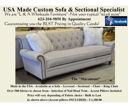 Custom USA made Sofa - Sectional - Loveseat - Chair & More is a Love Seats for Sale in Glendale AZ
