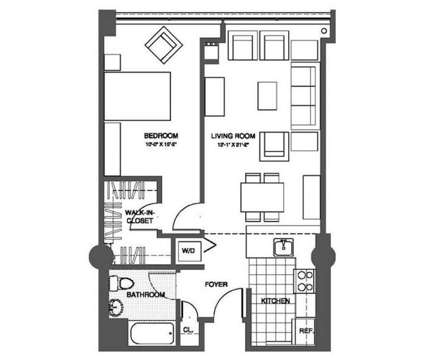 1 Bed - The Victor Lofts at One Market St in Camden NJ is a Apartment