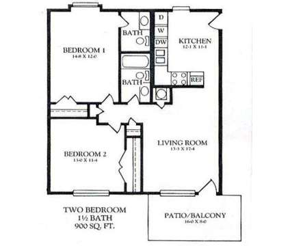 2 Beds - The Abington at 4616 Scott Crossing Drive in Memphis TN is a Apartment